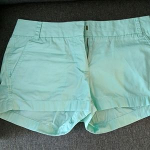 Mint J. Crew Factory Chino shorts